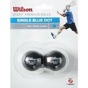 Wilson STAFF SQUASH 2 BALL BLU DOT   - Squashový míček