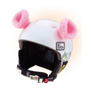 Crazy Ears RŮŽOVÁ růžová NS - Uši na helmu