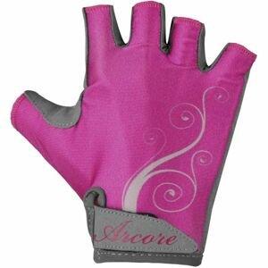 Arcore NINA růžová M - Dámské cyklistické rukavice