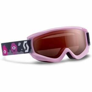 Scott JR AGENT SGL PINK červená  - Dětské lyžařské brýle